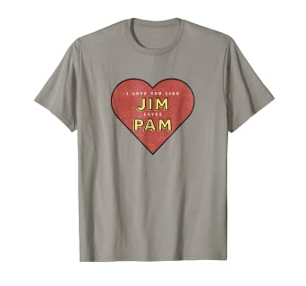 1e9d8bff821 Amazon.com: The Office Jim Loves Pam T-Shirt - Official T-Shirt ...