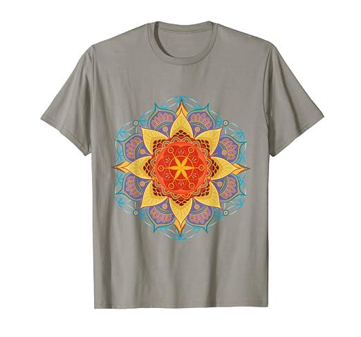 Amazon com: Colorful Seed of Life Mandala T-Shirt by Mandala Life