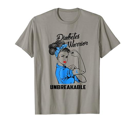 Amazon Diabetes Warrior Unbreakable T Shirt Awareness