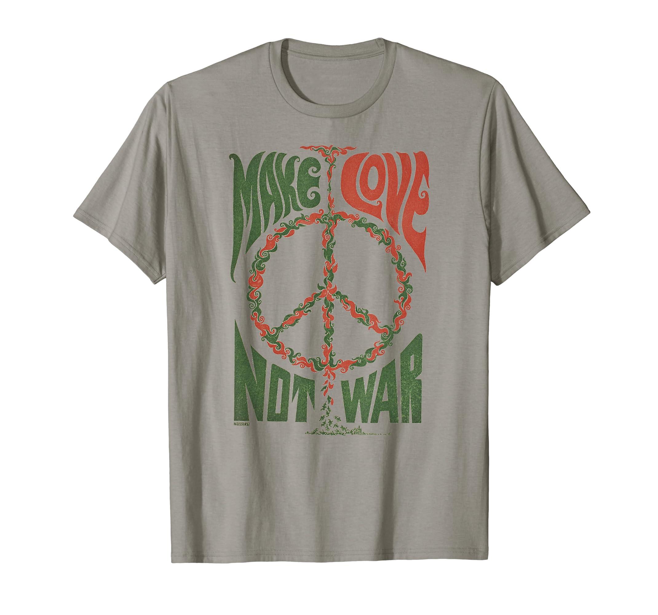 227abe5e Amazon.com: Make Love Not War Peace Vintage T- Shirt: Clothing