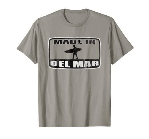 3859f7ec Amazon.com: Made In Surfing Del Mar T-Shirt For San Diego Local ...