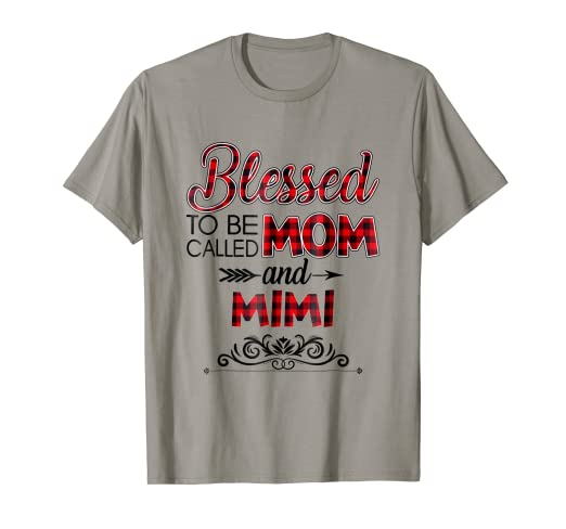 5922be5d Image Unavailable. Image not available for. Color: Blessed To Be Called MOM  and MIMI T-shirt Floral Grandma