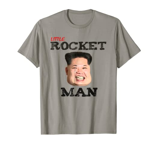 f0674452f Image Unavailable. Image not available for. Color: Little Rocket Man Kim  Jong Un T-Shirt Funny