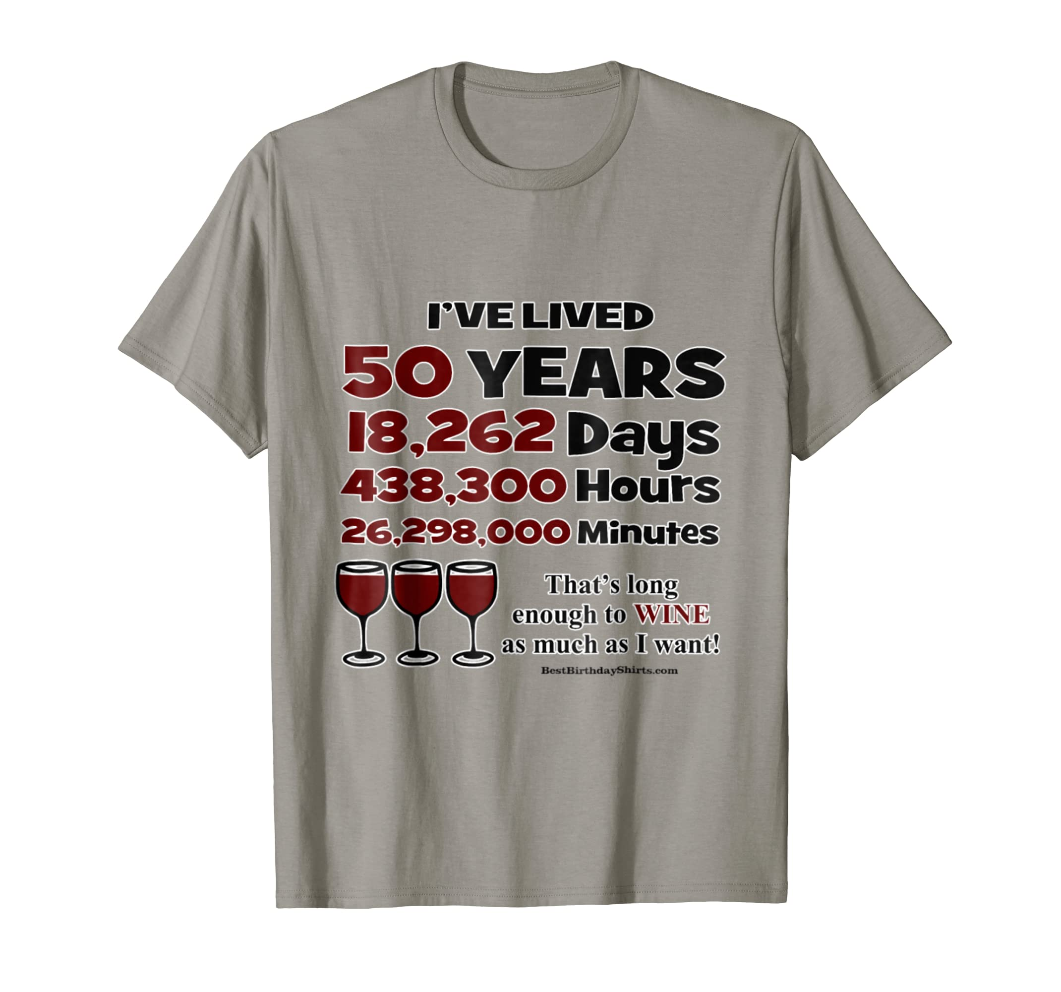 50th Birthday Long Enough T Shirt Funny-mt