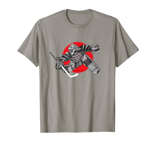 dbb88aa0 Image Unavailable. Image not available for. Color: Hockey Samurai Warrior  Martial Arts Goalie t-shirt