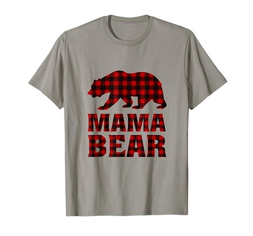 1e152a19 Image Unavailable. Image not available for. Color: Buffalo Plaid Mama Bear  Shirt
