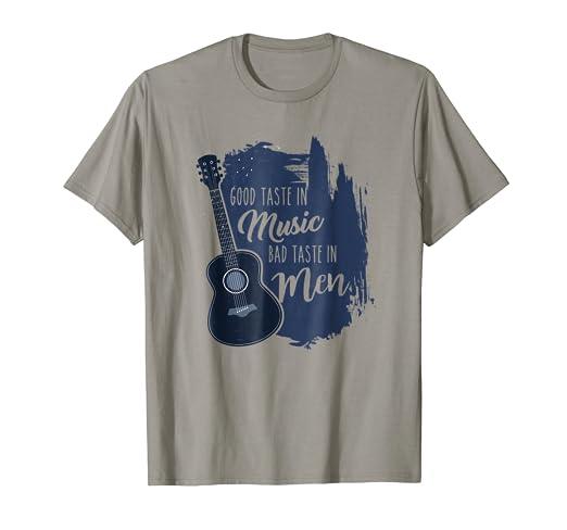 e88fd2b5f Amazon.com: Good Taste in Music Bad Taste in Men Shirt Sacarsm Quote ...
