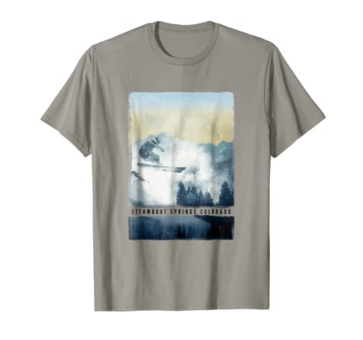 348f53f957 Image Unavailable. Image not available for. Color  Steamboat Springs T Shirt  Colorado Ski Snowboard ...