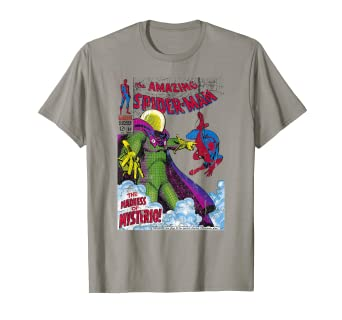 cf1680343 Image Unavailable. Image not available for. Color: Marvel Comics Spider-Man  Mysterio Cover Graphic T-Shirt