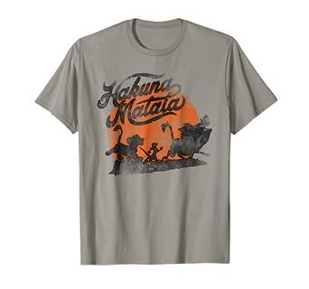 2f61b9ba8 Image Unavailable. Image not available for. Color: Disney Lion King Hakuna  Matata Orange Sunset Vintage T-Shirt