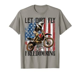 Amazoncom American Flag 4th Of July Dirt Bike Motocross Racing