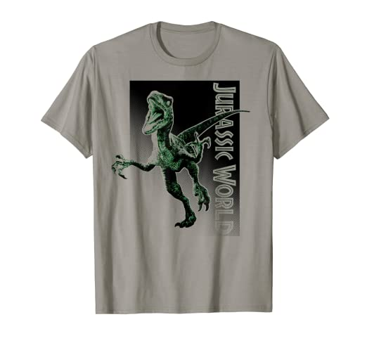 46a060ae Image Unavailable. Image not available for. Color: Jurassic World Raptor  Attack Halftone Graphic T-Shirt