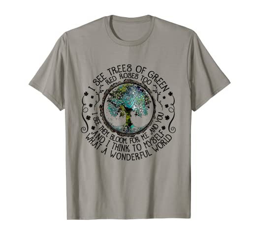 f46d654d342 Image Unavailable. Image not available for. Color  And I Think To Myself  What A Wonderful World T-shirt