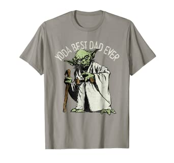 b6a52e48 Image Unavailable. Image not available for. Color: Star Wars Yoda Best Dad  Ever Graphic T-Shirt C1