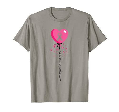 Cute Faith Hope Love Gifts Breast Cancer Awareness Costume T Shirt