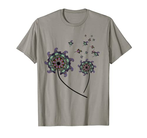 Funny Dandelion Witch Costume Flower Witch Gift Men Women T Shirt