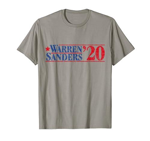 Elizabeth Warren And Bernie Sanders On The One Ticket T Shirt