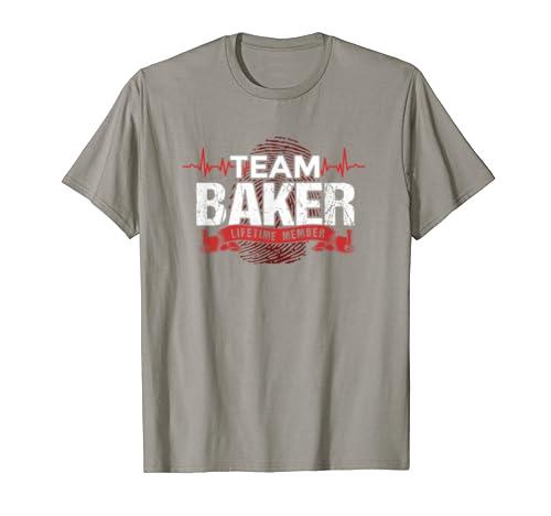 BAKER TEAM Family Reunions DNA Heartbeat Gift T-Shirt
