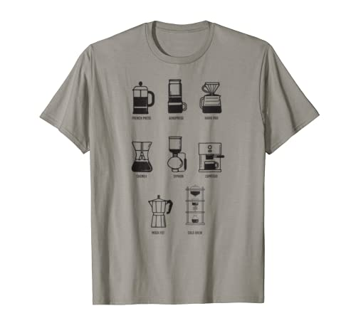 Coffee Brew Method T-Shirt - Perfect Gift for Coffee Lovers