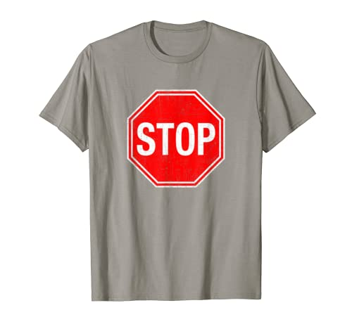 253400ccb33b Amazon.com  Stop Sign T Shirt  Clothing