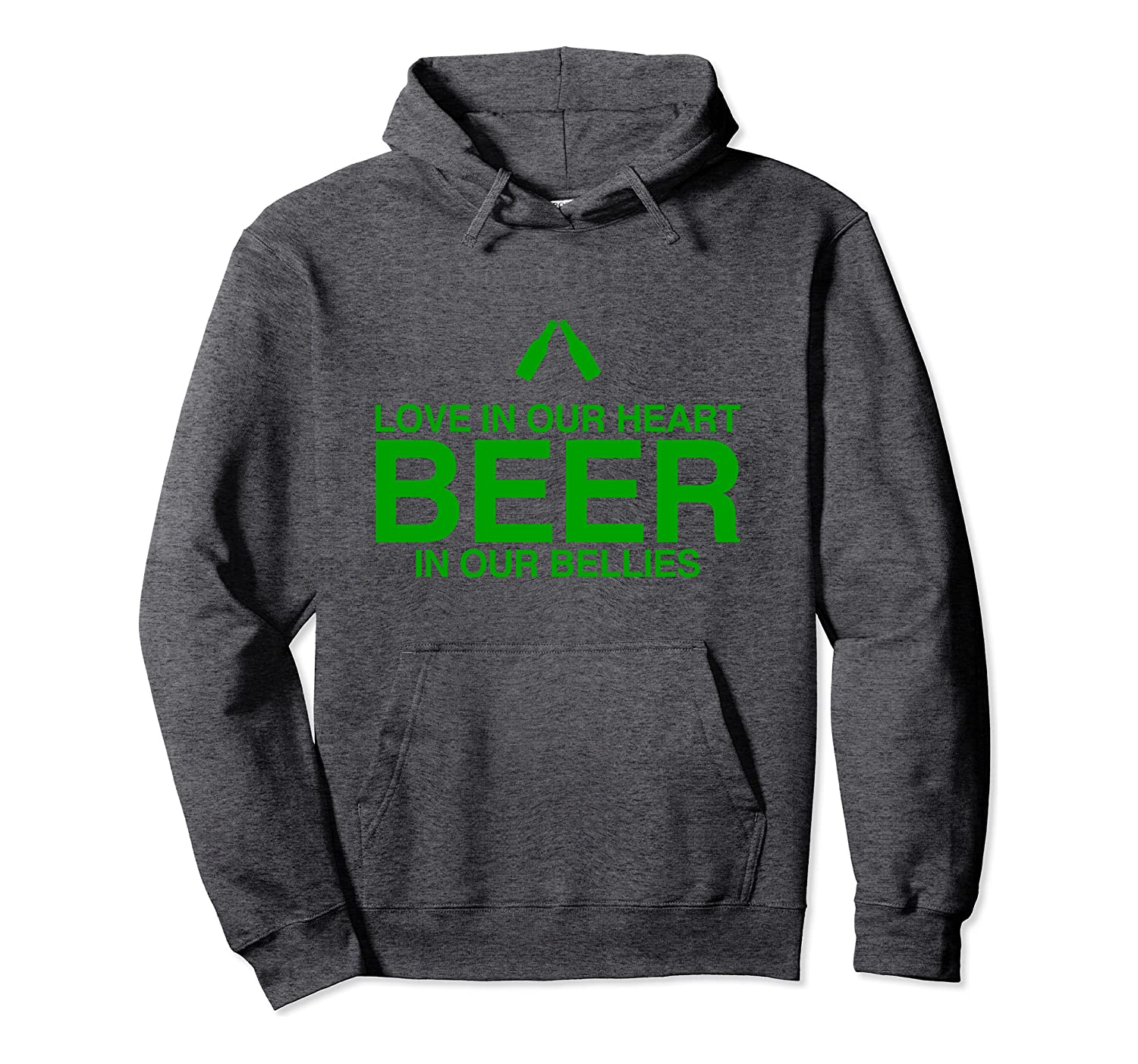 St. Patty Day Saint Patrick's Day Love In Heart Beer In Bell Pullover Hoodie-Awarplus