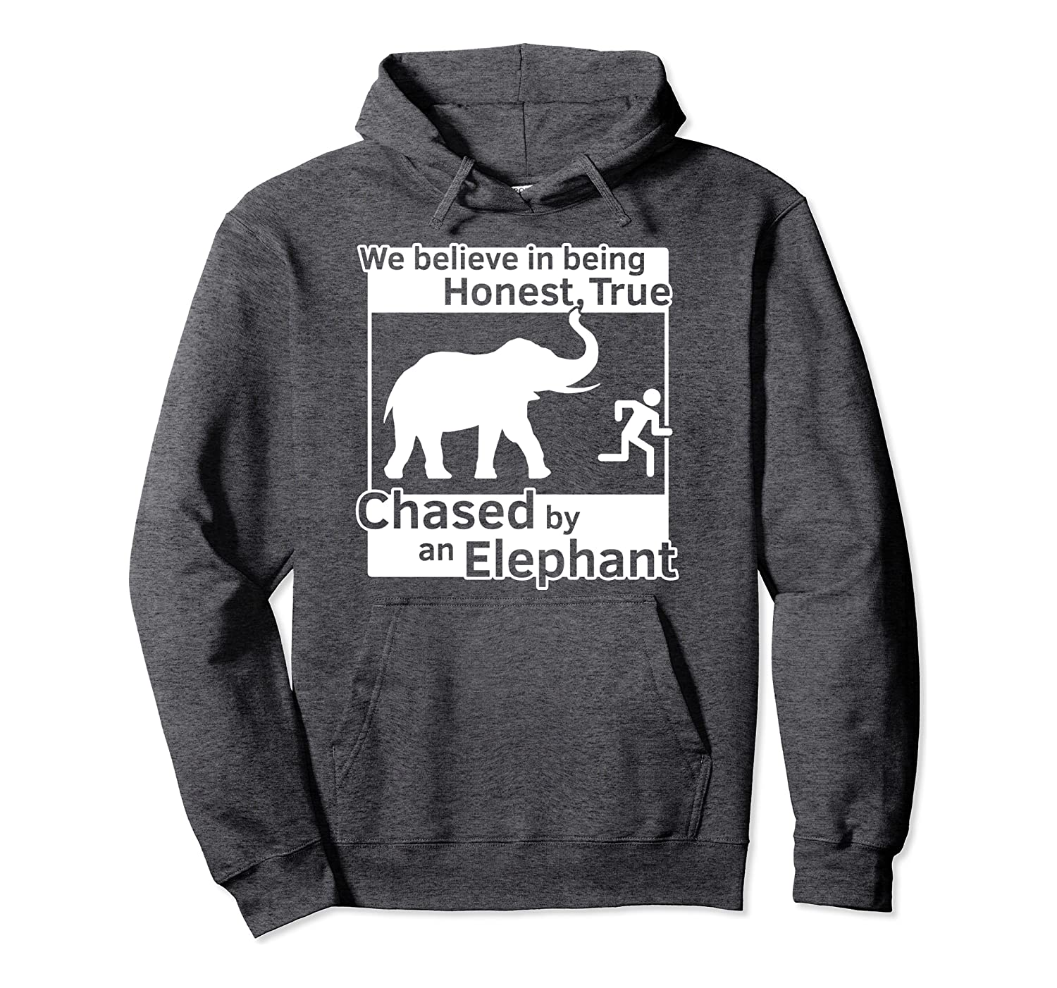 13th Article of Faith Funny LDS Chased By An Elephant Pullover Hoodie