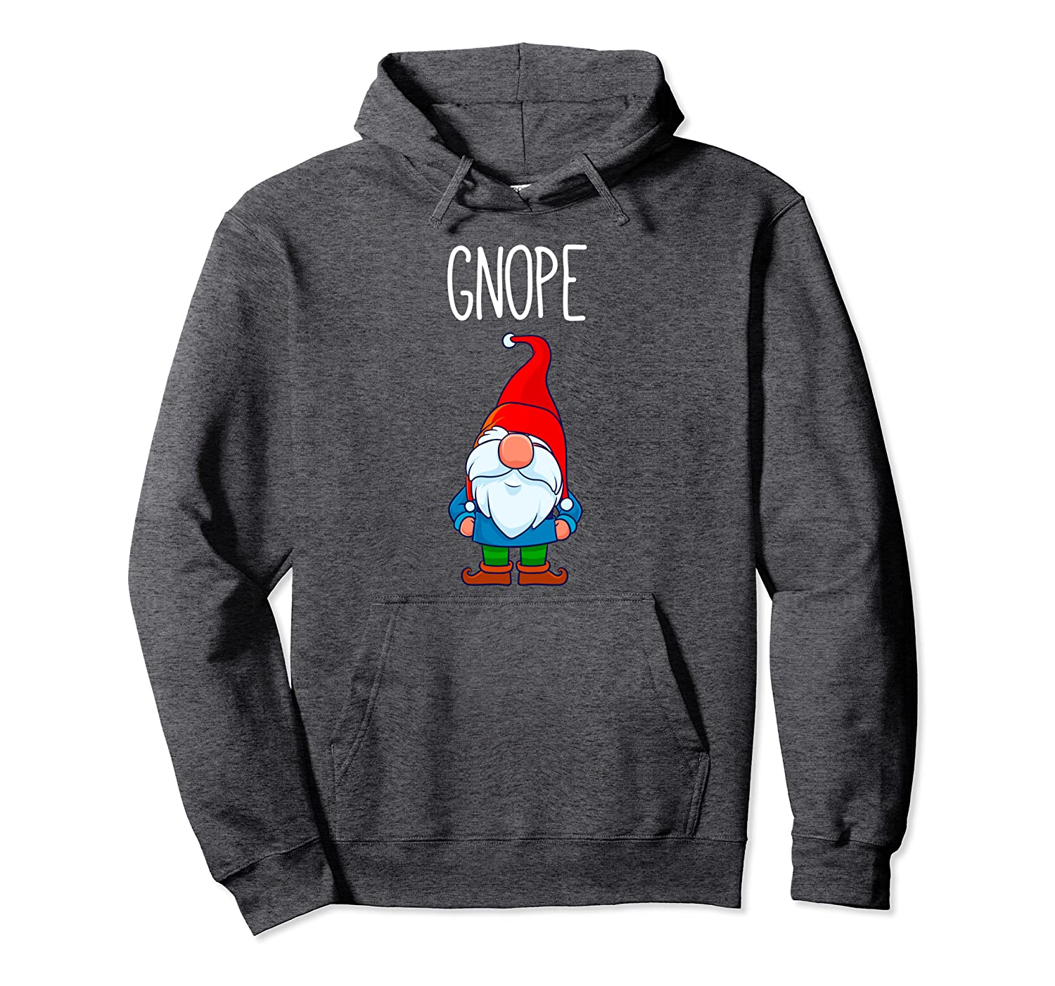 Gnope, Tomte Garden Gnome Gift, Funny Scandinavian Nope Pullover Hoodie-TH