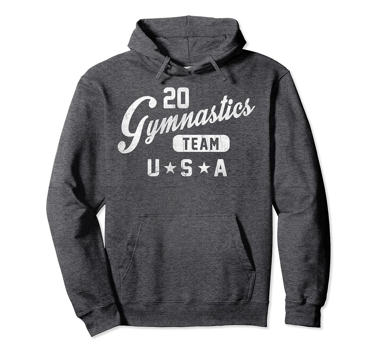 20 Gymnastics Team USA Simple Pullover Hoodie