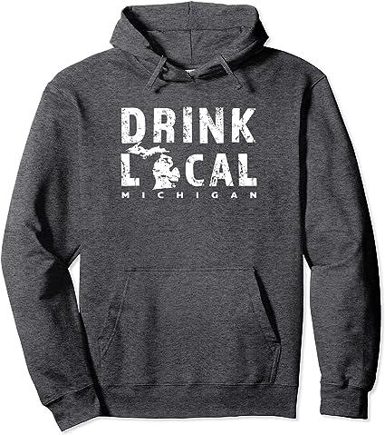 Michigan Local Beer Drinker Men/'s Vintage Hoodie