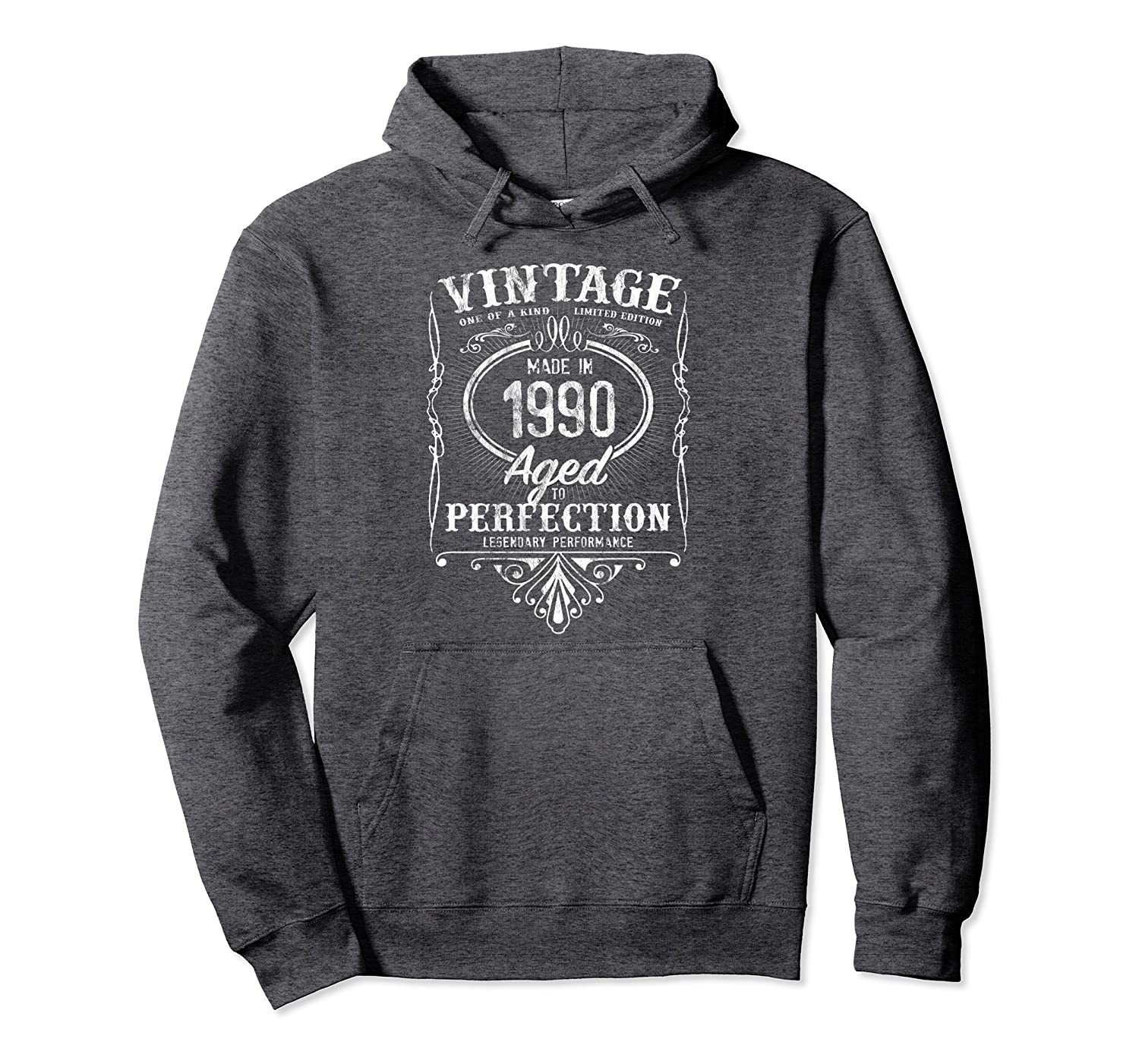 Vintage Made In 1990 Classic 29th Birthday Aged Perfection Pullover Hoodie