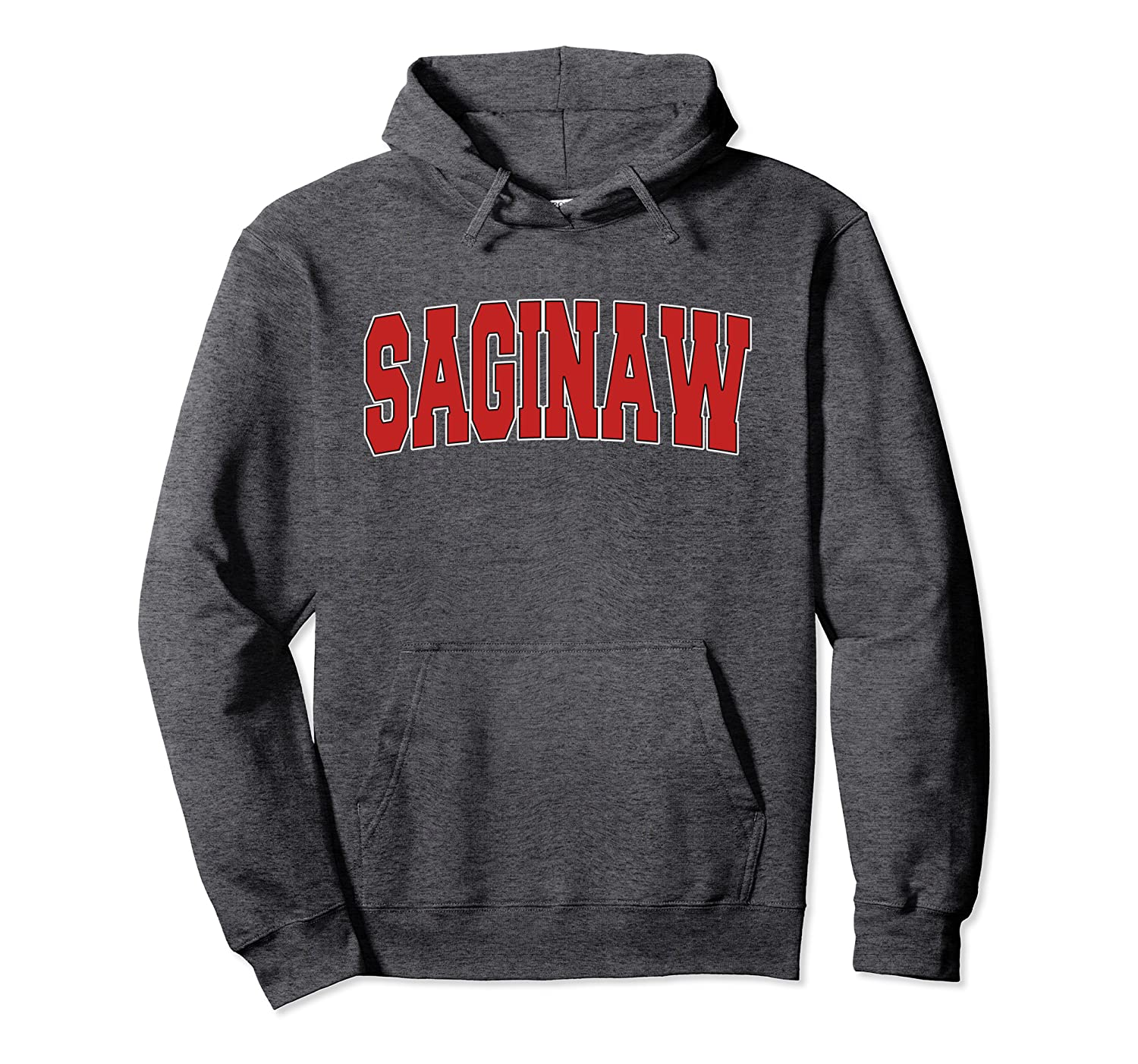 SAGINAW MI MICHIGAN Varsity Style USA Vintage Sports Pullover Hoodie