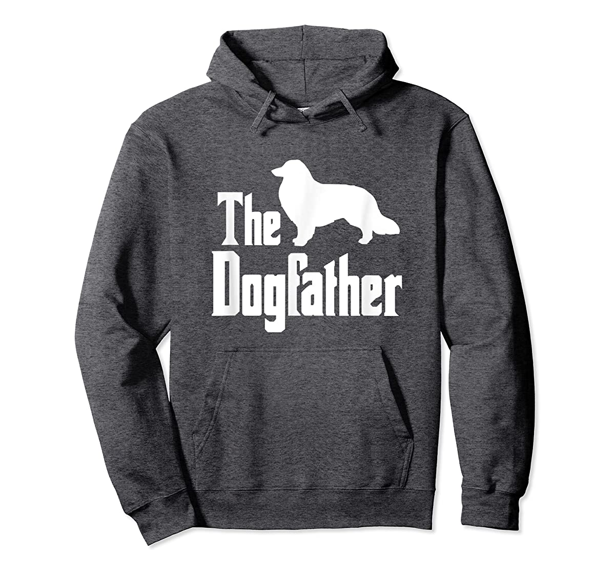 The Dogfather - funny Rough Collie T-Shirt, funny dog gift-Hoodie-Dark Heather