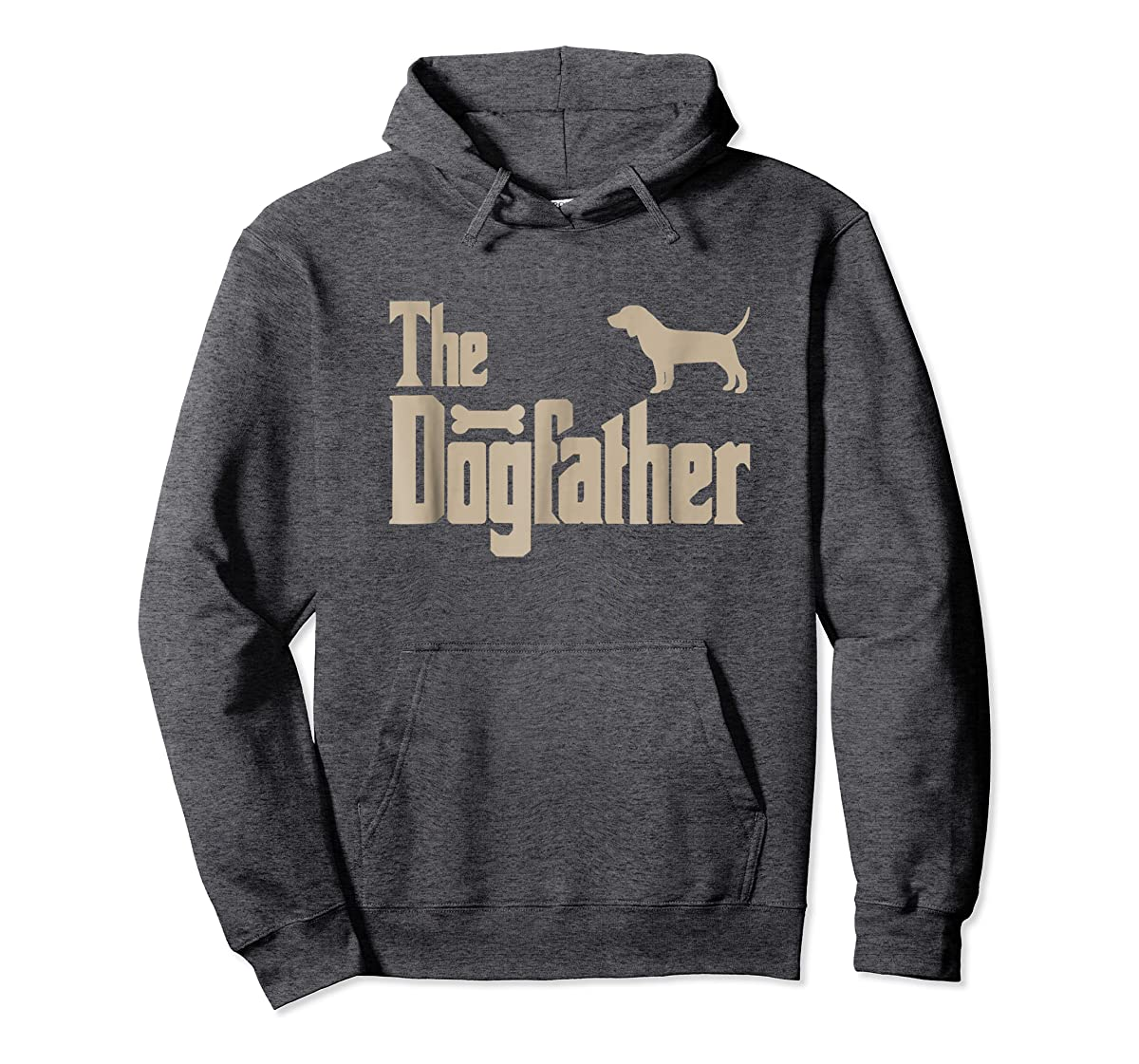 "Mens Beagle Dog Lovers Gifts ""The Dogfather"" Men Tee Shirts-Hoodie-Dark Heather"