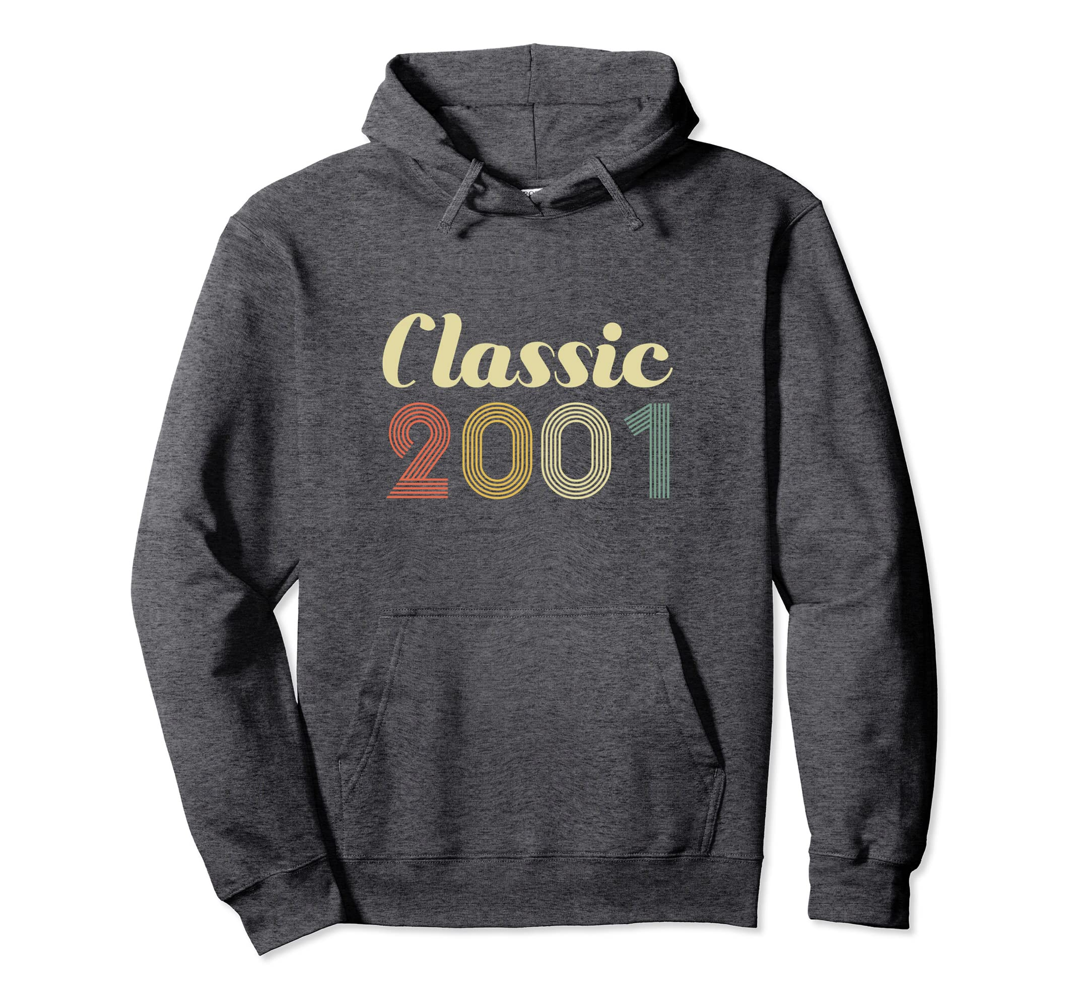 17th Birthday Gift Hoodie Classic Born In 2001 17 Year Old-Protee