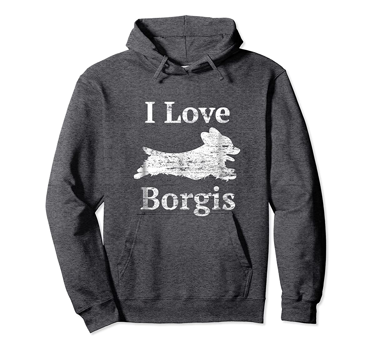 Borgi Shirt - I Love Borgis Cute Mom Dad Dog tshirt-Hoodie-Dark Heather