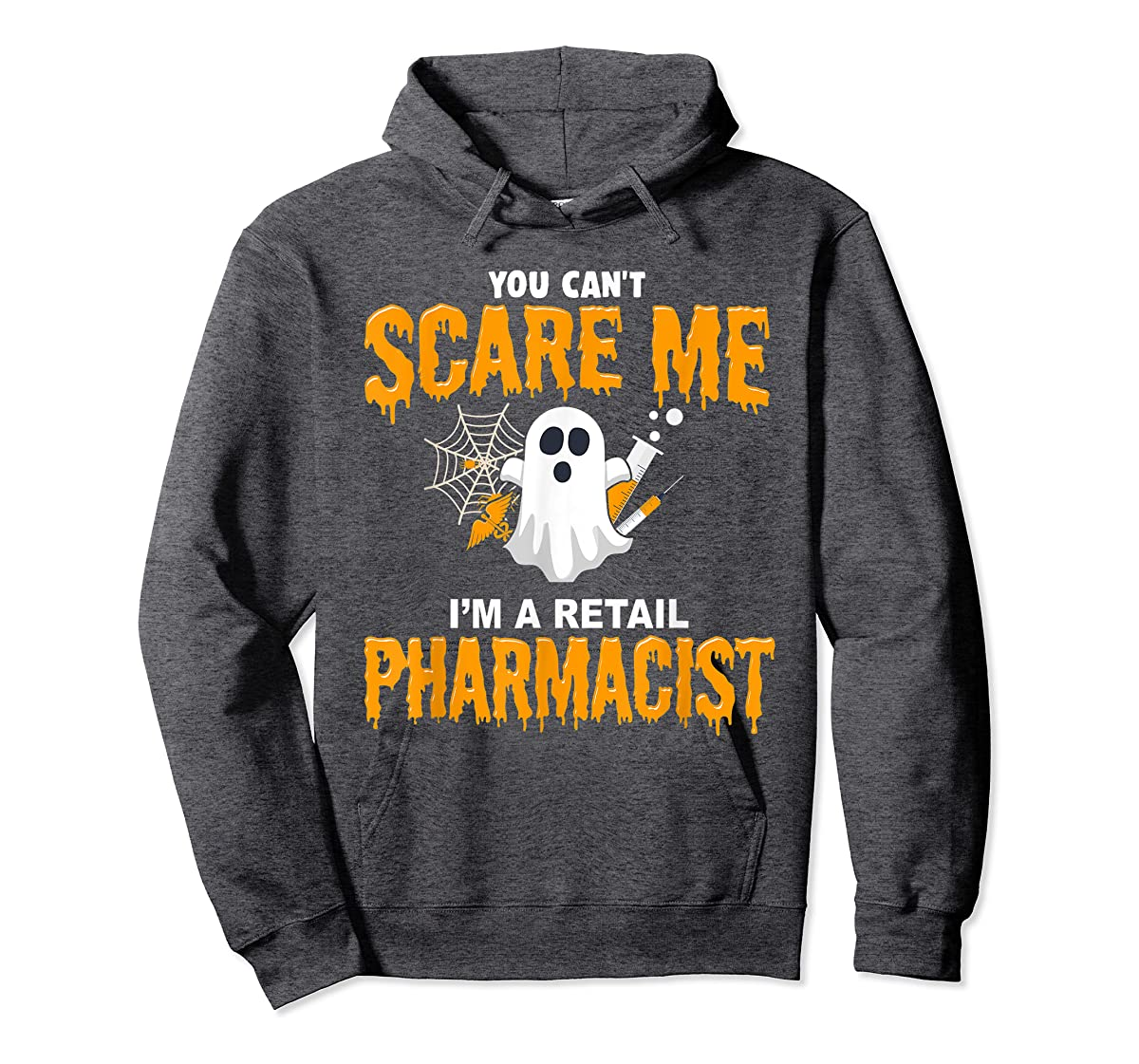 Halloween Costume Shirt I'm A Retail Pharmacist T-Shirt-Hoodie-Dark Heather