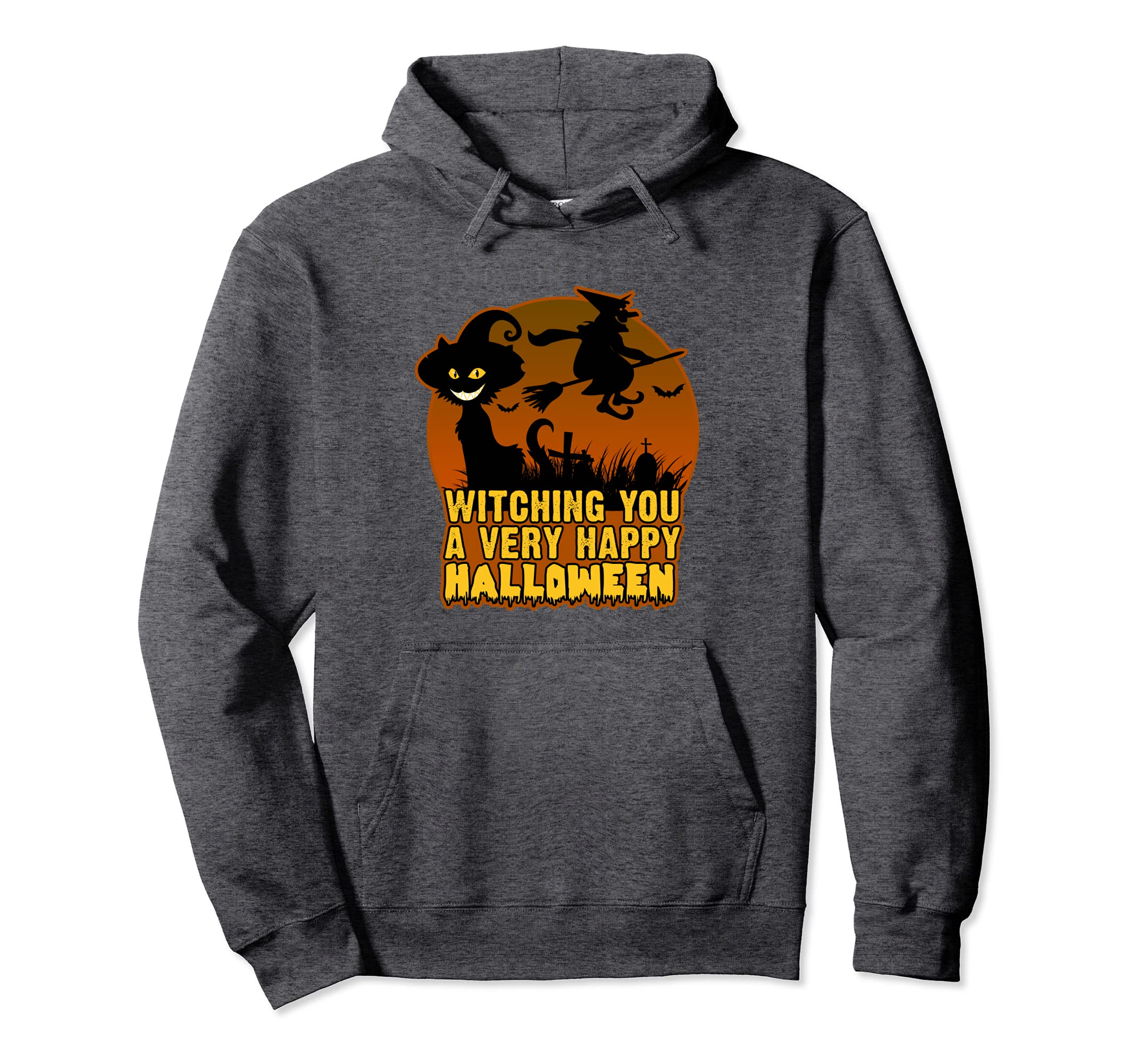 Witch Hoodie with Witching You a Very Happy Halloween Text-Colonhue