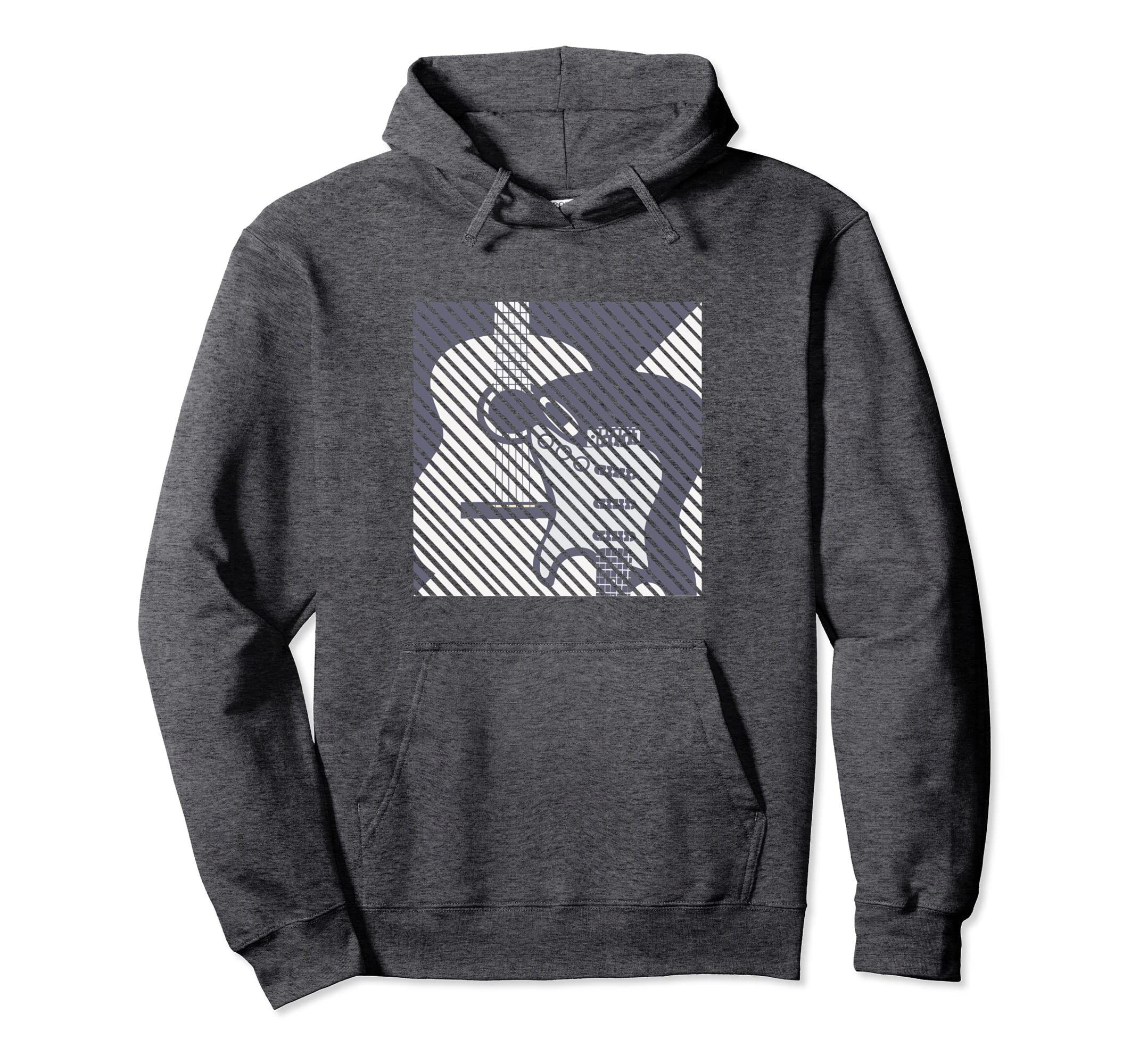 Guitar Hoodie for Guitarist   Electric and Classic Guitars-azvn