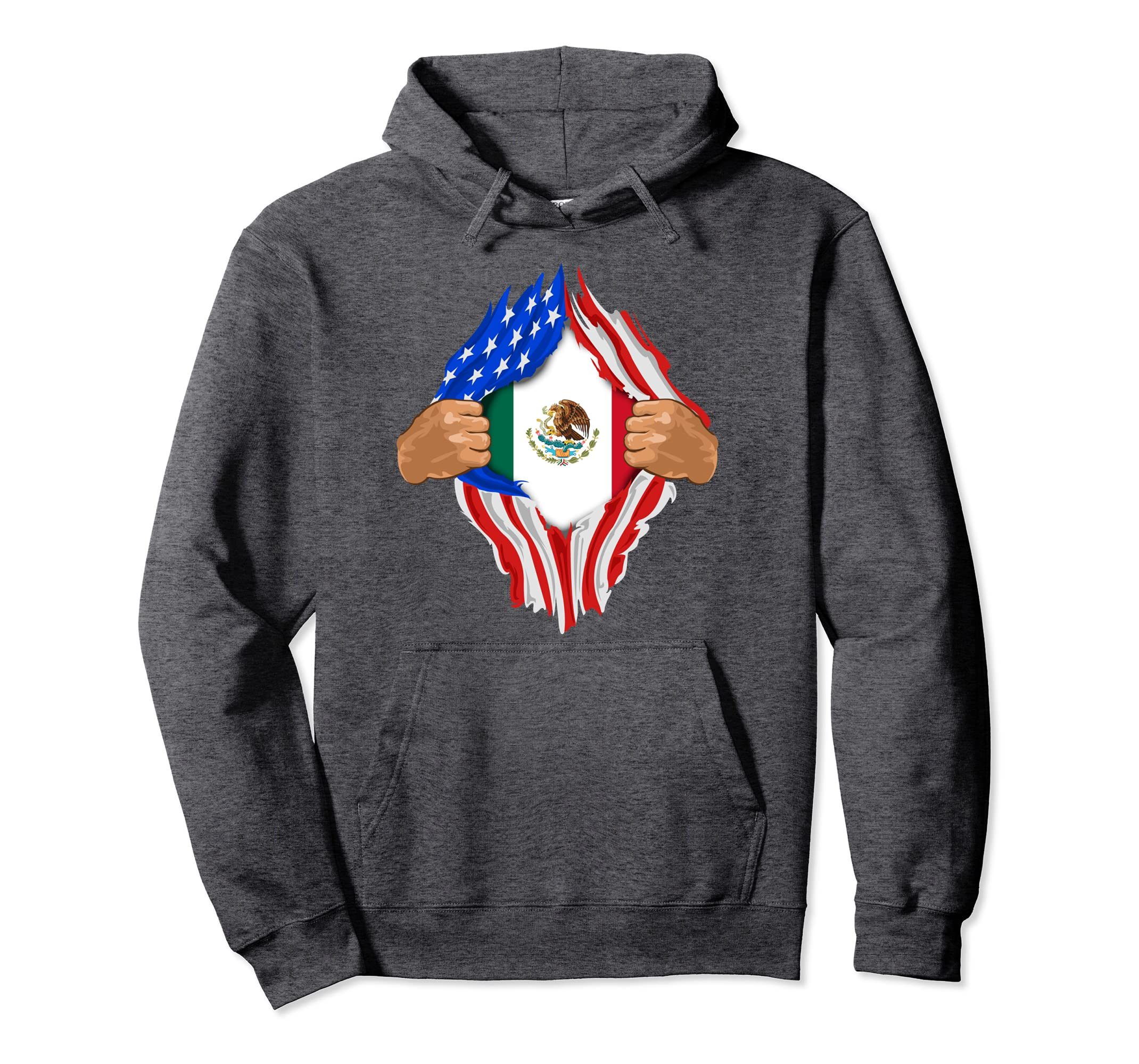 buy popular 4615a ab84a Amazon.com: Mexican Blood Inside Me Hoodie | Mexico Flag ...