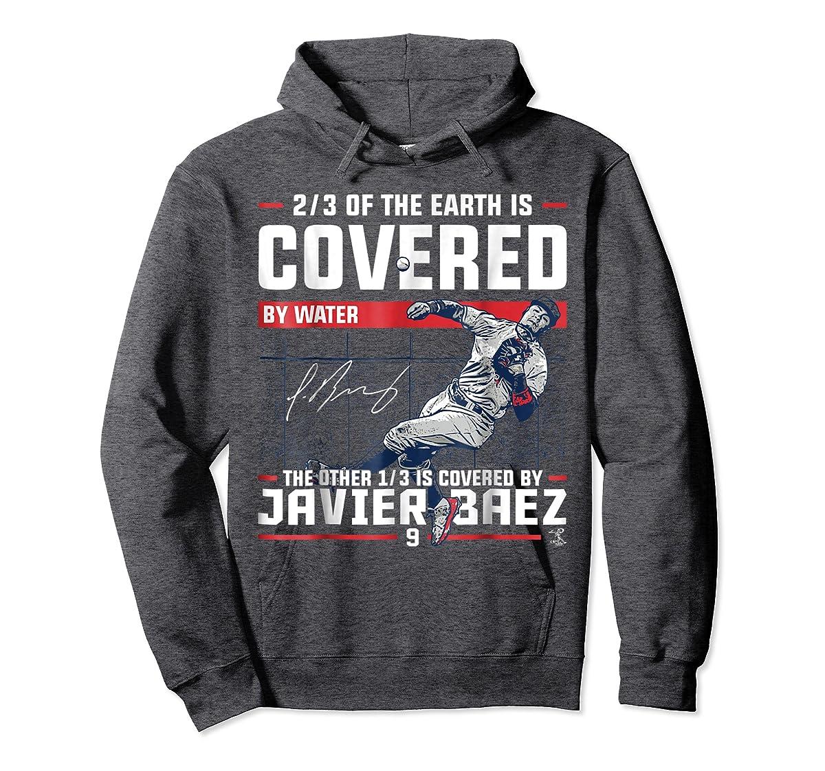 Javier Baez Covered By T-Shirt - Apparel-Hoodie-Dark Heather