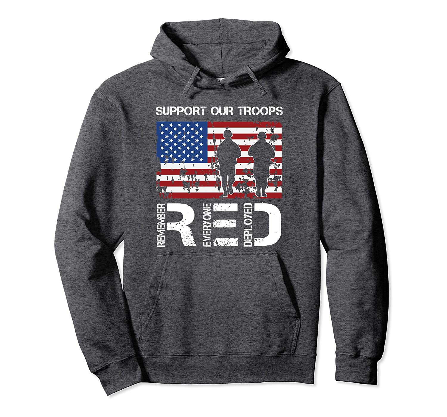 quality design 52ab9 3bc61 Amazon.com: Support Our Troops Remember Everyone Deployed ...