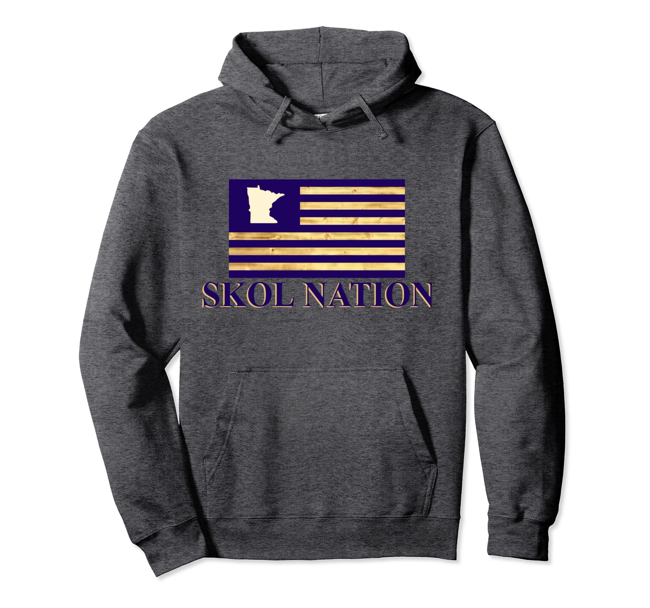 0df3e4f90 Amazon.com  Skol Hoodie Skol Sweatshirt Skol T Shirt Vikings Woodgrain   Clothing