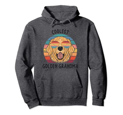 Coolest Golden Grandma Gift Golden Retriever Dog Grandma Pullover Hoodie