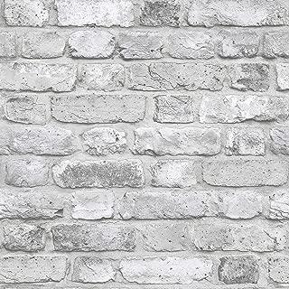 FC2503 - Facade Silver Grey Brick Wall Galerie Wallpaper