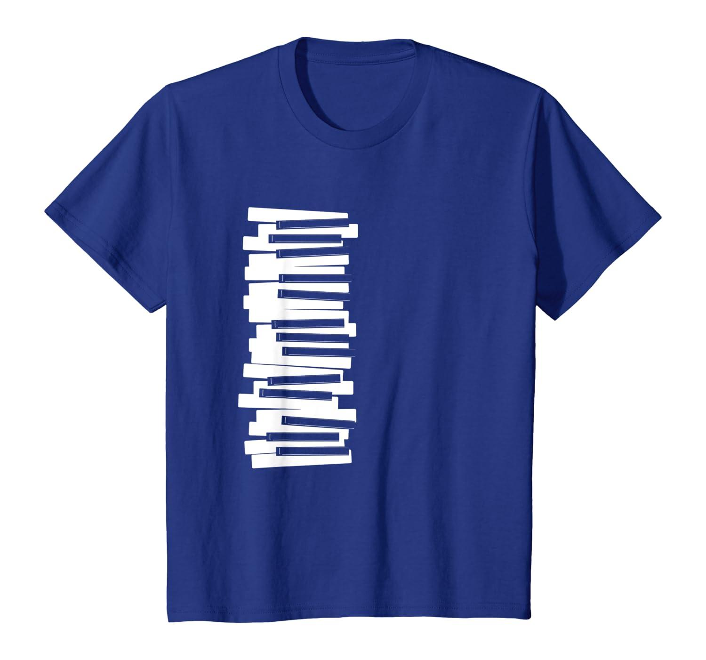 Llaves M/úsica Nota Teclado Tocando Piano Sintetizador Regalo Camiseta