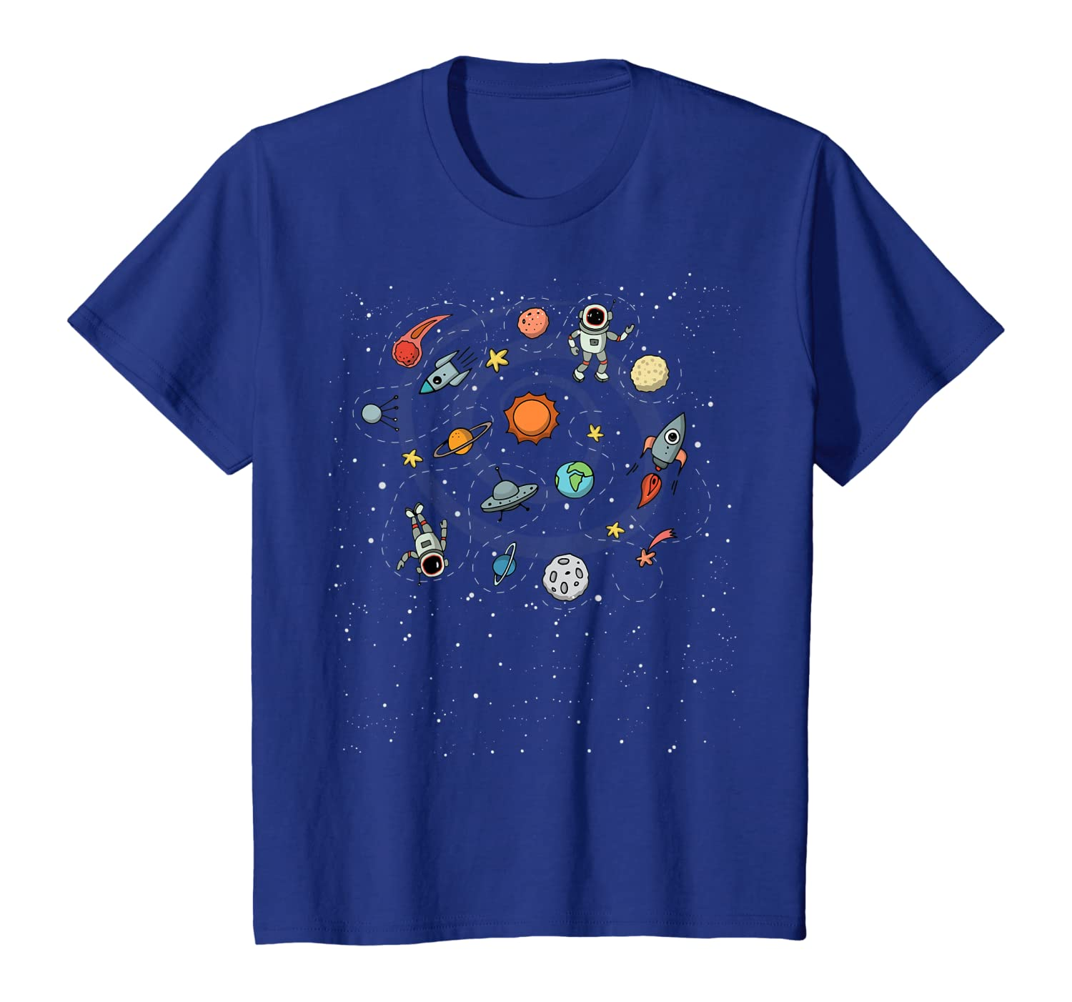 Space Planet Solar Gift System Astronaut Adult Geeks Kid T-Shirt Youth