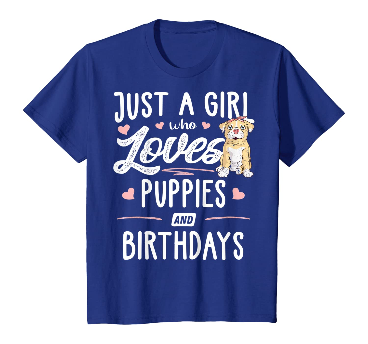 Just A Girl Who Loves Puppies And Birthdays Gift Women T-Shirt