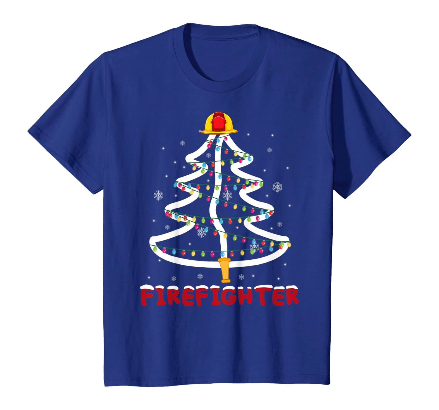 Firefighter Christmas Tree Funny Xmas Gifts For Firefighter T-Shirt