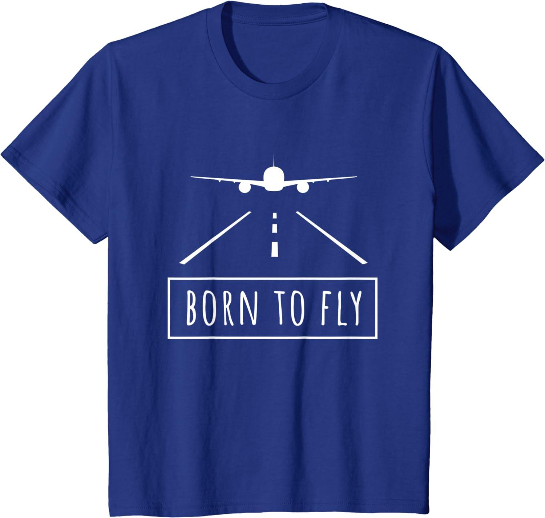Born To Fly-comptage to Work avion aviateur T-Shirt S-XXXL