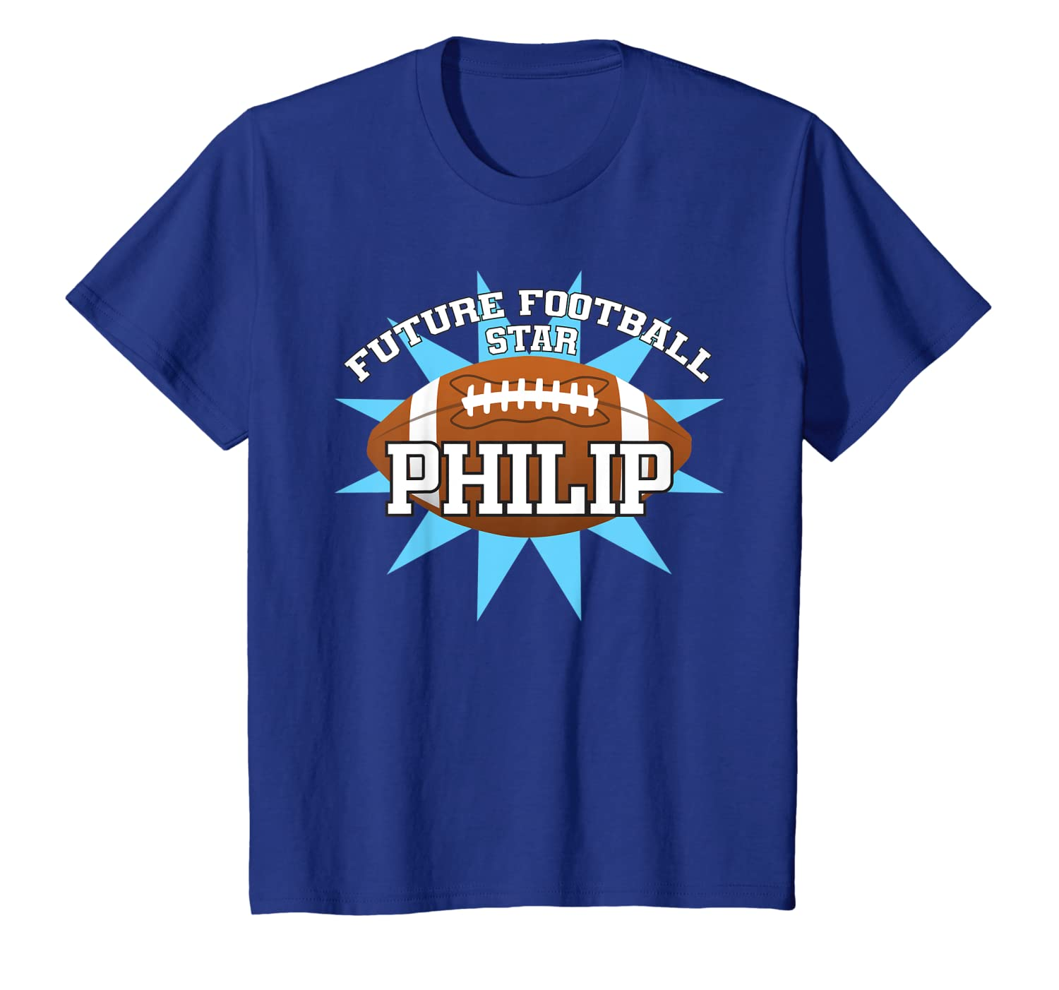 Kids Future Football Star Philip Birthday Boy Kids Name T-Shirt Unisex Tshirt